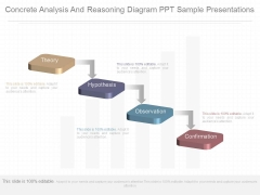 Concrete Analysis And Reasoning Diagram Ppt Sample Presentations
