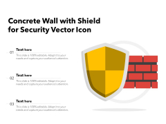 Concrete Wall With Shield For Security Vector Icon Ppt PowerPoint Presentation Infographic Template Information PDF