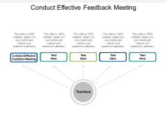 Conduct Effective Feedback Meeting Ppt PowerPoint Presentation File Styles Cpb