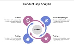 Conduct Gap Analysis Ppt PowerPoint Presentation Infographics Examples Cpb