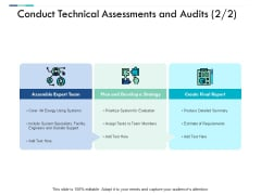 Conduct Technical Assessments And Audits Business Ppt PowerPoint Presentation Icon Layout Ideas