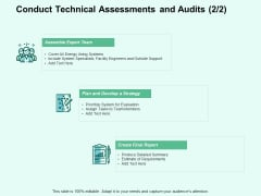 Conduct Technical Assessments And Audits Requirements Ppt PowerPoint Presentation Model Grid