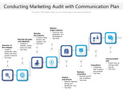 Conducting Marketing Audit With Communication Plan Ppt PowerPoint Presentation File Graphics Download PDF