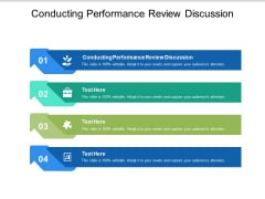 Conducting Performance Review Discussion Ppt PowerPoint Presentation Icon Elements Cpb