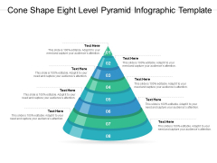 Cone Shape Eight Level Pyramid Infographic Template Ppt PowerPoint Presentation Files PDF