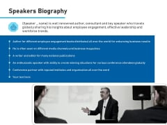 Conference Session Speakers Biography Ppt Slides Example File PDF
