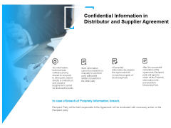 Confidential Information In Distributor And Supplier Agreement Ppt PowerPoint Presentation Summary Clipart Images