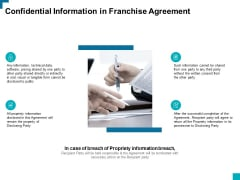 Confidential Information In Franchise Agreement Ppt PowerPoint Presentation Infographics Example Introduction