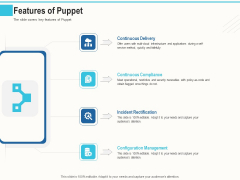 Configuration Management With Puppet Features Of Puppet Ppt File Layouts PDF