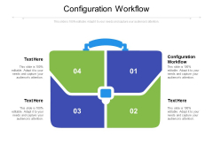 Configuration Workflow Ppt PowerPoint Presentation Infographics Slide Download Cpb Pdf