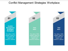Conflict Management Strategies Workplace Ppt PowerPoint Presentation Styles Graphic Tips Cpb