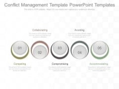 Conflict Management Template Powerpoint Templates