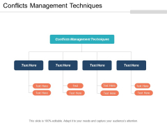 Conflicts Management Techniques Ppt PowerPoint Presentation Professional Information Cpb