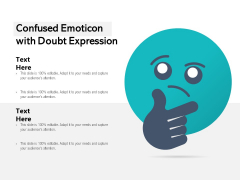 Confused Emoticon With Doubt Expression Ppt PowerPoint Presentation Gallery Layouts PDF