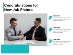 Congratulations For New Job Picture Ppt PowerPoint Presentation Pictures Slide PDF