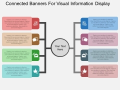 Connected Banners For Visual Information Display Powerpoint Template