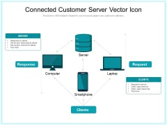 Connected Customer Server Vector Icon Ppt PowerPoint Presentation Show Format PDF