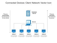 Connected Devices Client Network Vector Icon Ppt PowerPoint Presentation Styles Slides PDF