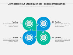 Connected Four Steps Business Process Infographics Ppt PowerPoint Presentation Gallery Inspiration