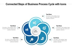 Connected Steps Of Business Process Cycle With Icons Ppt PowerPoint Presentation Icon Portrait