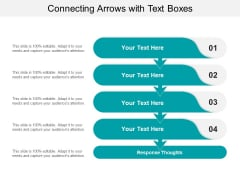 Connecting Arrows With Text Boxes Ppt PowerPoint Presentation Infographics Elements