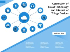 Connection Of Cloud Technology And Internet Of Things Devices Ppt PowerPoint Presentation Layouts Gallery PDF