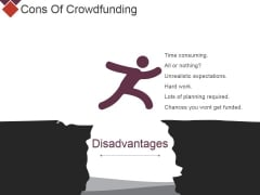 Cons Of Crowdfunding Ppt PowerPoint Presentation File Background Image