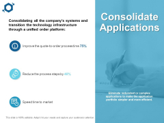 Consolidate Applications Ppt PowerPoint Presentation Ideas File Formats