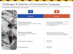 Construction Business Company Profile Challenges And Solution Of Construction Company Pictures PDF