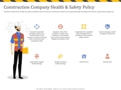 Construction Business Company Profile Construction Company Health And Safety Policy Microsoft PDF