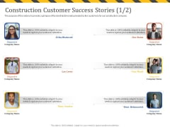 Construction Business Company Profile Construction Customer Success Stories Teamwork Pictures PDF