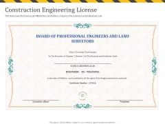 Construction Business Company Profile Construction Engineering License Rules PDF