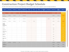 Construction Business Company Profile Construction Project Budget Schedule Survey Structure PDF