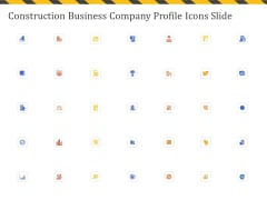 Construction Business Company Profile Icons Slide Ppt Gallery Introduction PDF