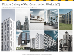 Construction Business Company Profile Picture Gallery Of Our Construction Work Far Information PDF