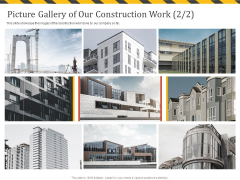 Construction Business Company Profile Picture Gallery Of Our Construction Work Sample PDF