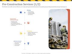 Construction Business Company Profile Pre Construction Services Design Ppt Gallery Sample PDF