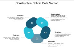 Construction Critical Path Method Ppt PowerPoint Presentation File Background Image Cpb