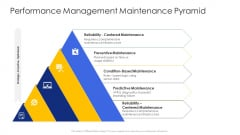 Construction Engineering And Industrial Facility Management Performance Management Maintenance Pyramid Demonstration PDF