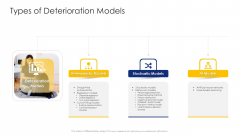 Construction Engineering And Industrial Facility Management Types Of Deterioration Models Demonstration PDF