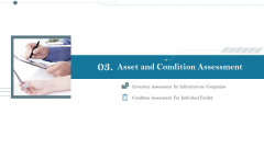 Construction Management Services And Action Plan Asset And Condition Assessment Structure PDF