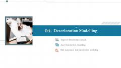 Construction Management Services And Action Plan Deterioration Modelling Clipart PDF