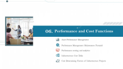 Construction Management Services And Action Plan Performance And Cost Functions Infographics PDF