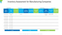 Construction Management Services Inventory Assessment For Manufacturing Companies Elements PDF