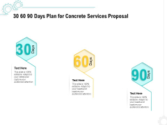 Construction Material Service 30 60 90 Days Plan For Concrete Services Proposal Topics PDF
