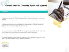 Construction Material Service Cover Letter For Concrete Services Proposal Elements PDF