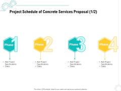 Construction Material Service Project Schedule Of Concrete Services Proposal Dates Professional PDF