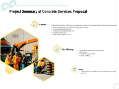 Construction Material Service Project Summary Of Concrete Services Proposal Introduction PDF