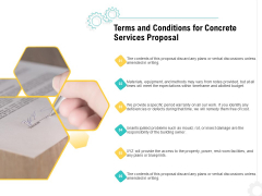 Construction Material Service Terms And Conditions For Concrete Services Proposal Designs PDF