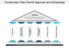 Construction Plan Permit Approval And Scheduling Ppt PowerPoint Presentation Styles Examples